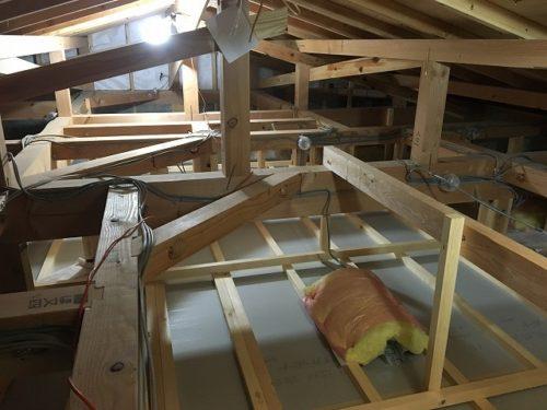 天井施工前